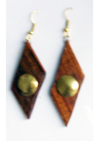 Wooden ear ring