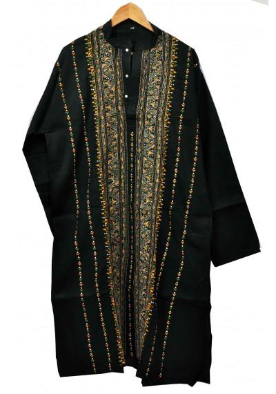 Black Menz Kantha Kurta