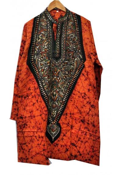 Kantha Batik Kurta