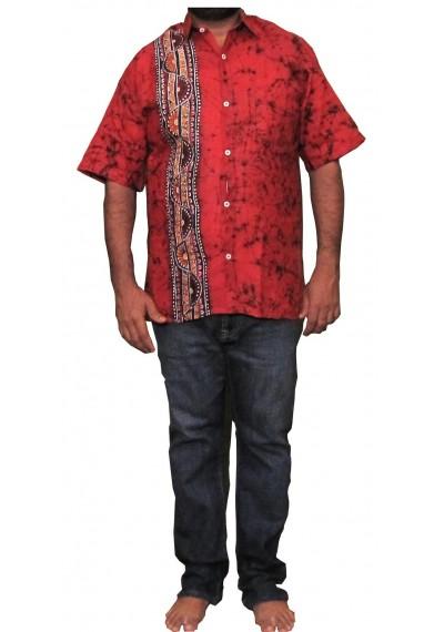 Batik Red Shirt