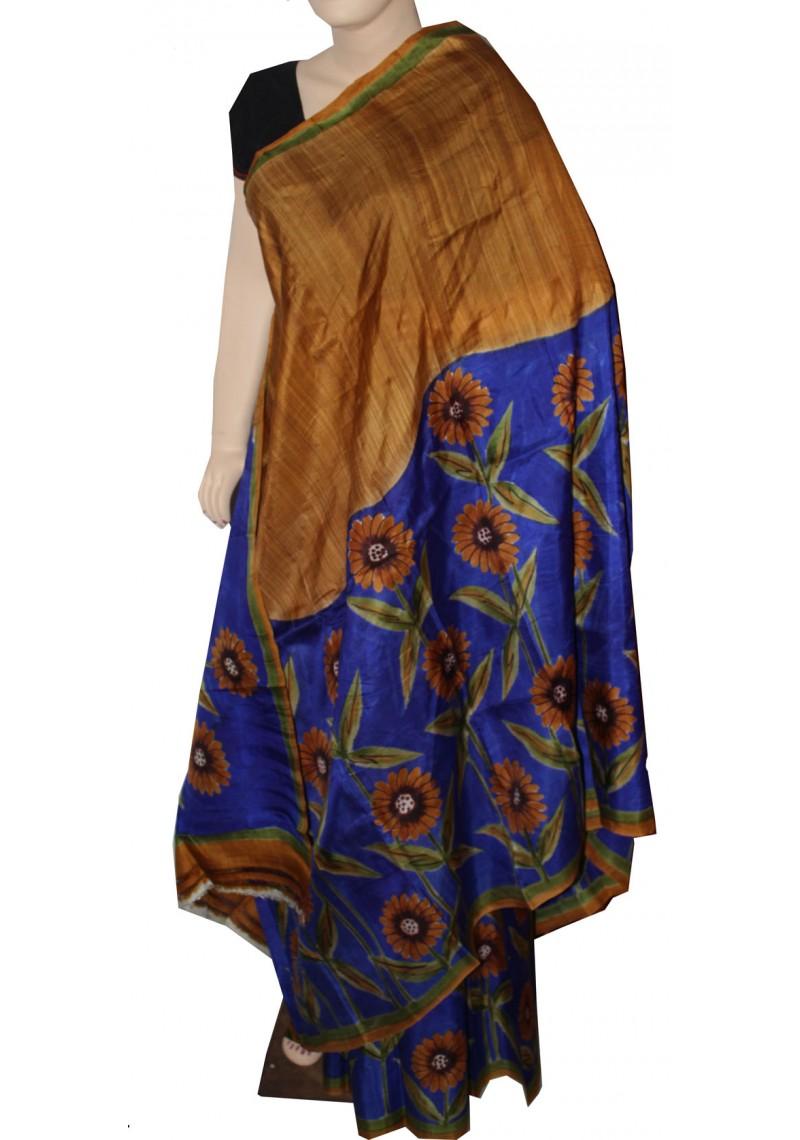 Bamboo Silk Sarees Acid Print Silk Saree