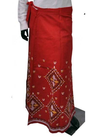 Red Wraparound Skirt